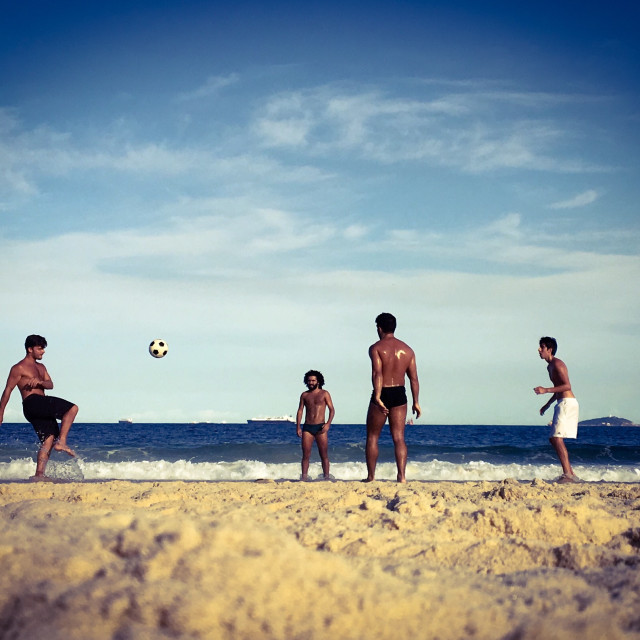 """Copacabana Football"" stock image"