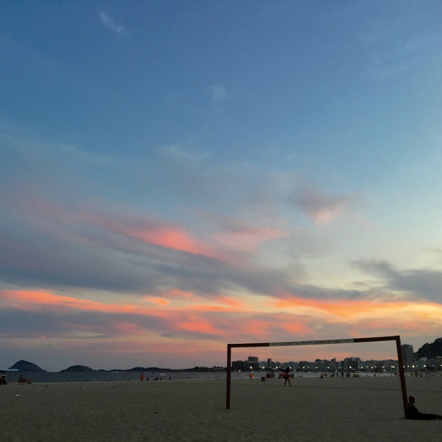 """Copacabana sunset"" stock image"