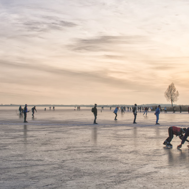 """Skating at sunset"" stock image"