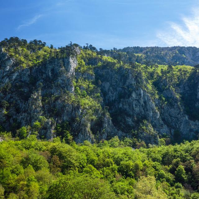 """Limestone mountains"" stock image"