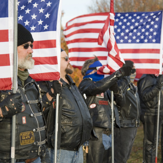 """Veterans day ceremony Omaha Nebraska USA"" stock image"
