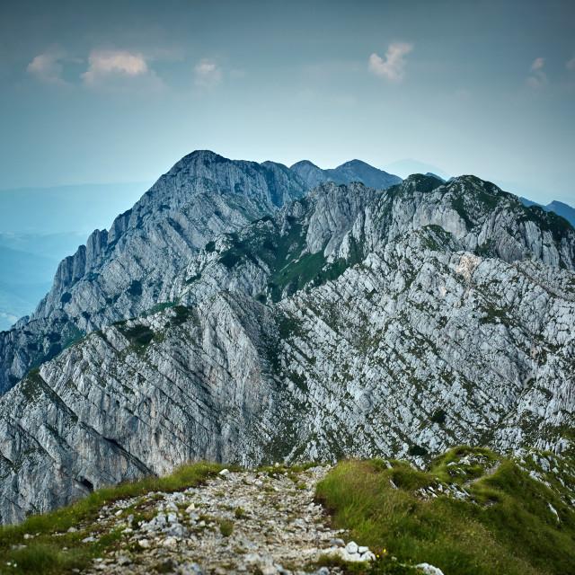 """Rocky limestone peak"" stock image"