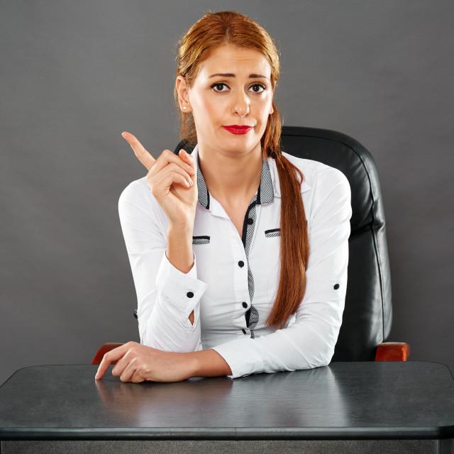 """""""Severe teacher"""" stock image"""