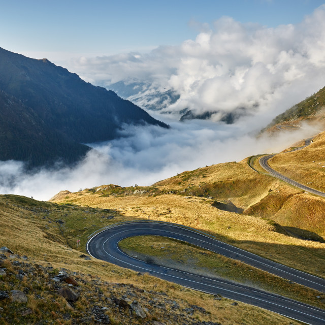 """""""Highway in mountains"""" stock image"""
