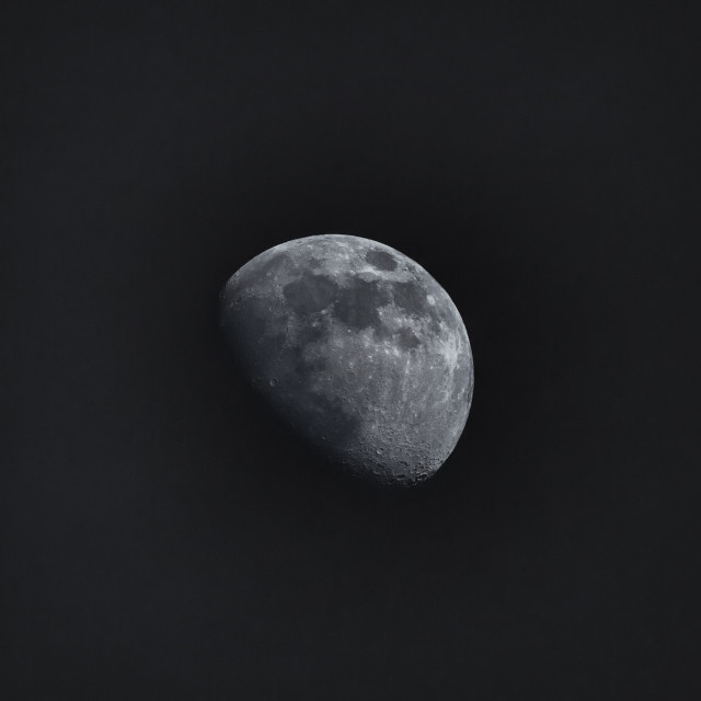 """""""The Moon at night"""" stock image"""