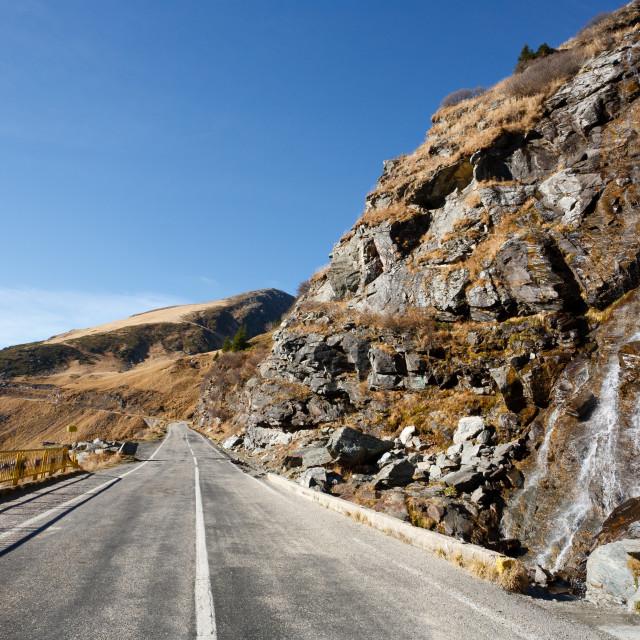"""""""Transfagarasan road in Romania"""" stock image"""