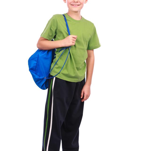 """""""Boy in sportswear"""" stock image"""
