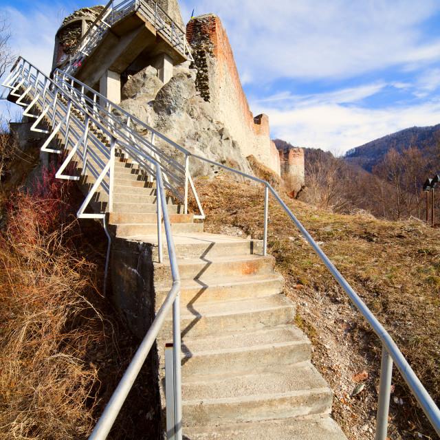 """Poienari fortress of Dracula"" stock image"