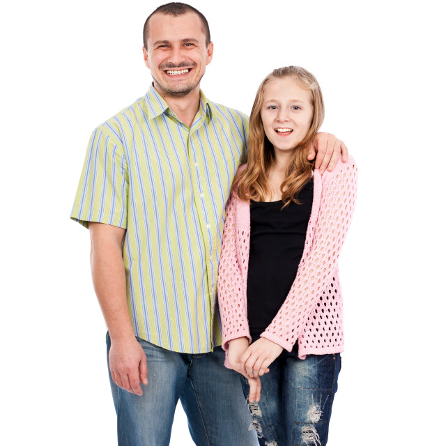 """""""Father and daughter"""" stock image"""