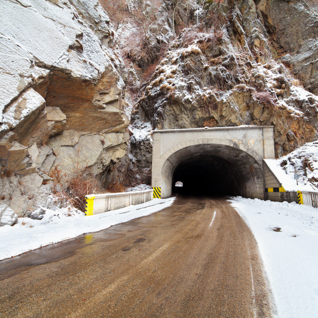 """""""Tunnel in mountains"""" stock image"""