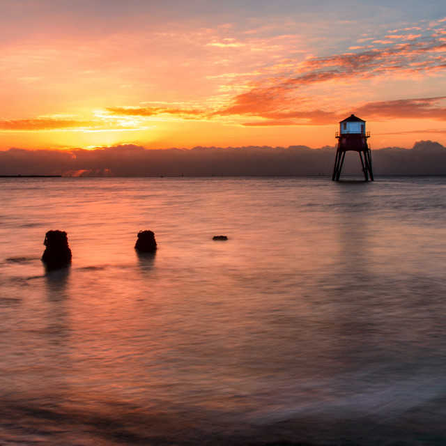 """Dovercourt Low Light Sunrise"" stock image"