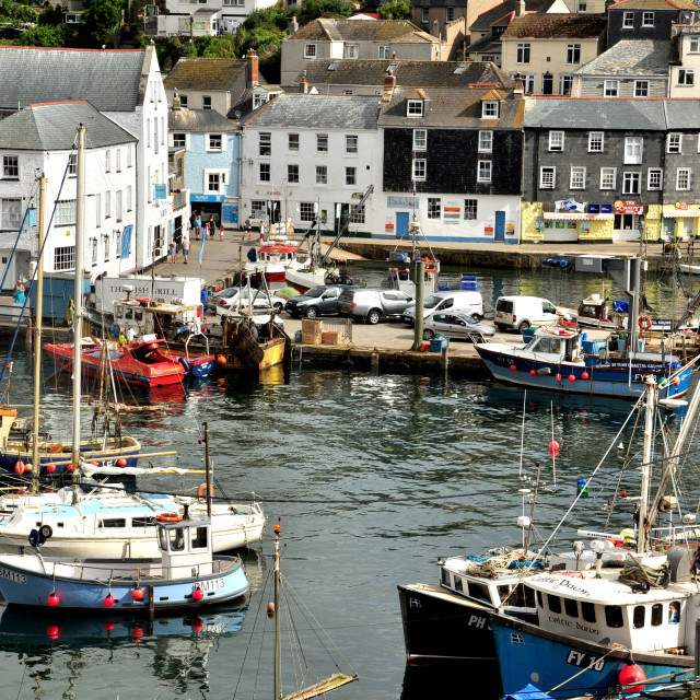 """Mevagissey Harbourside"" stock image"