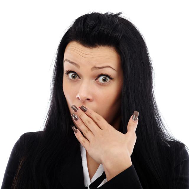 """Businesswoman in shock"" stock image"