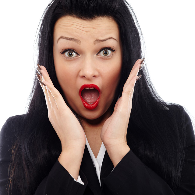 """Businesswoman in shock"" stock image"