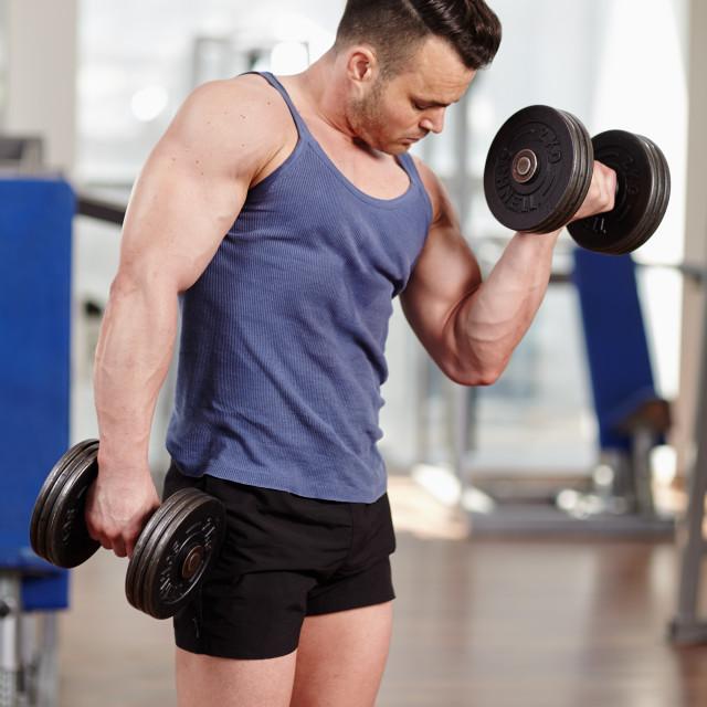 """""""Biceps workout"""" stock image"""