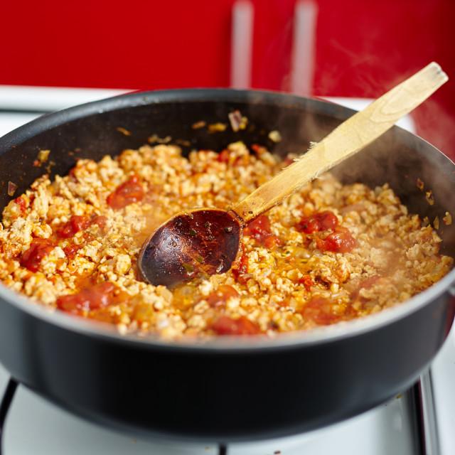 """Lasagna cooking"" stock image"