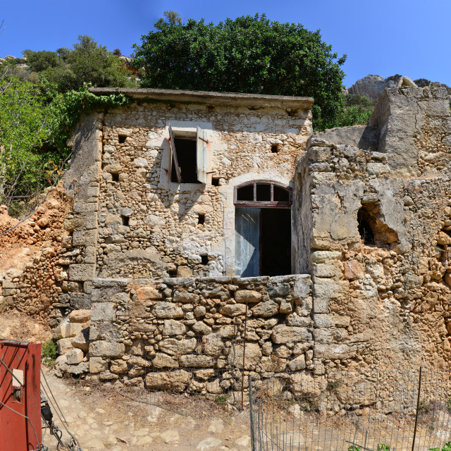"""""""ancient greek house ruin"""" stock image"""