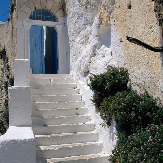 """Crete,Chrisoskalitissa Monastery"" stock image"