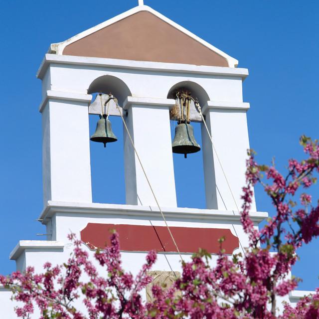 """CRETE ,Church Belltower"" stock image"