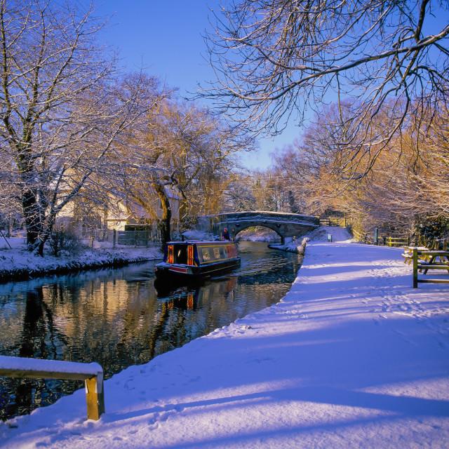"""Basingstoke Canal in winter"" stock image"