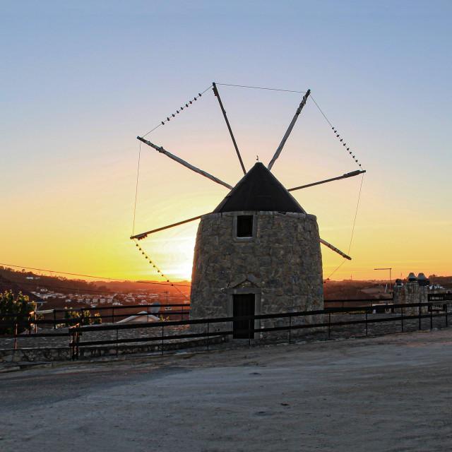 """""""Portuguese Windmill"""" stock image"""