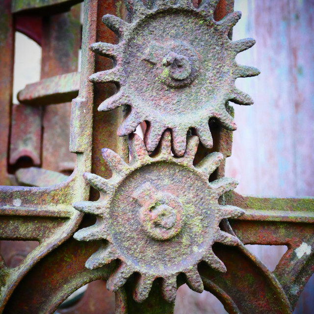 """Old machine cogs"" stock image"