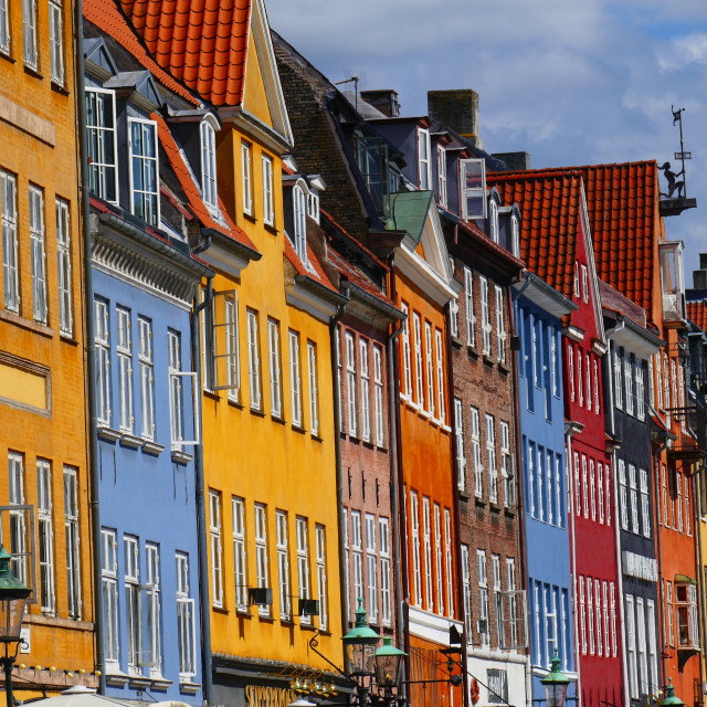 """Coloured houses in Copenhagen"" stock image"