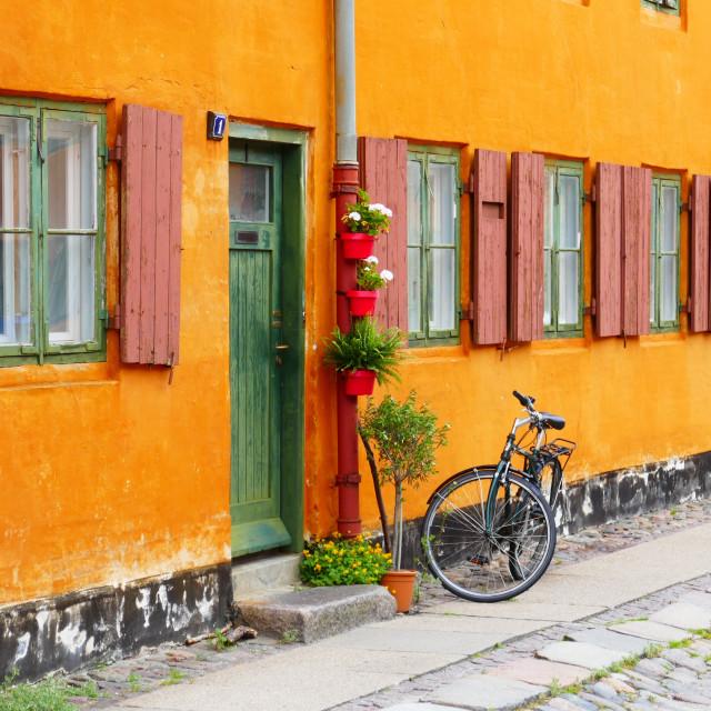 """""""Copenhagen sailor's quarters"""" stock image"""
