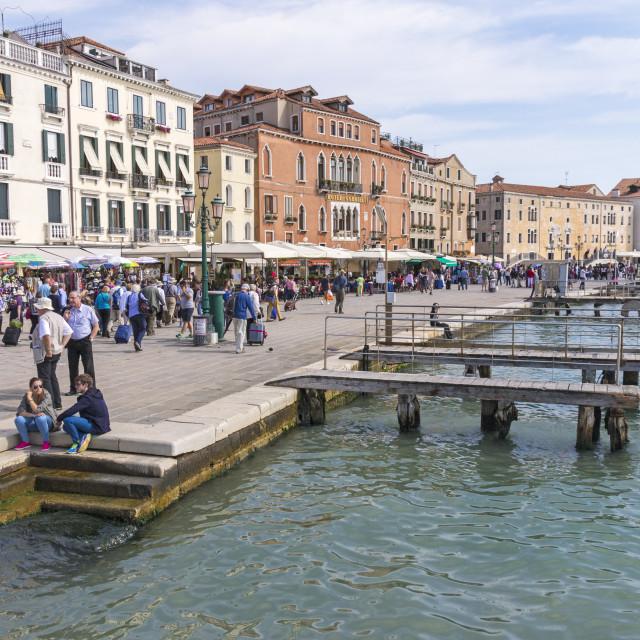 """Venice quayside"" stock image"