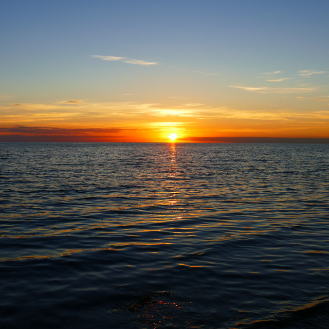 """Sunset over sea"" stock image"