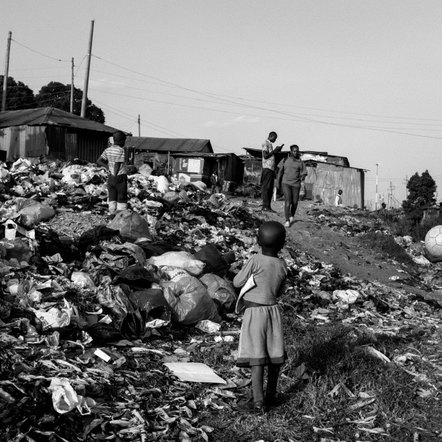 """Scenes of Kibera"" stock image"