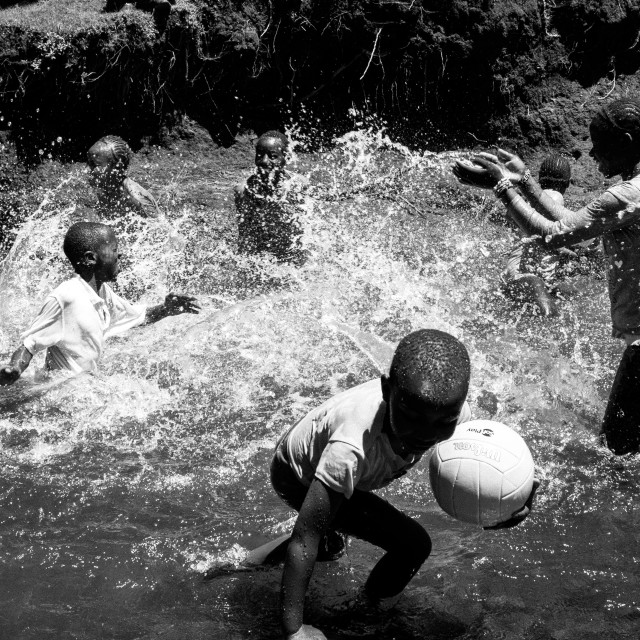 """Children playing in Kenya"" stock image"
