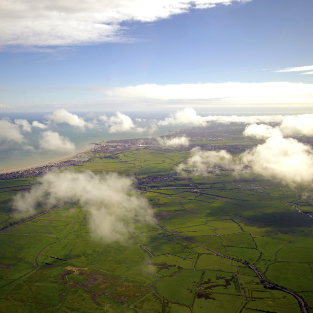 """""""Sussex from the sky"""" stock image"""