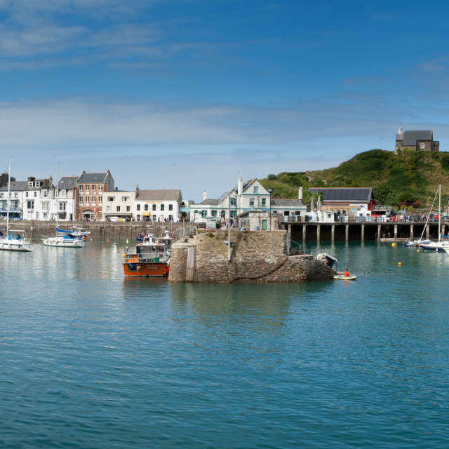 """""""Ilfracombe harbour panoramic"""" stock image"""