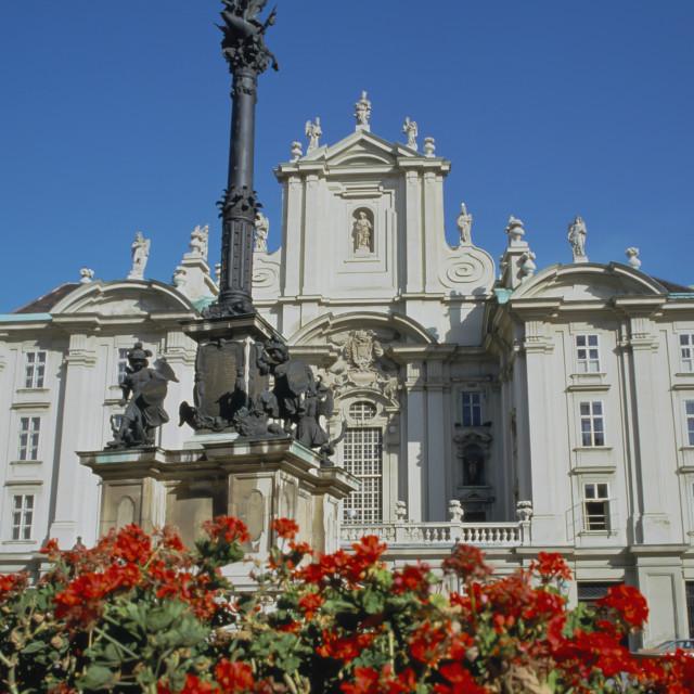 """Vienna ,Austria The Kirche am Hof Church and Mariensaule"" stock image"