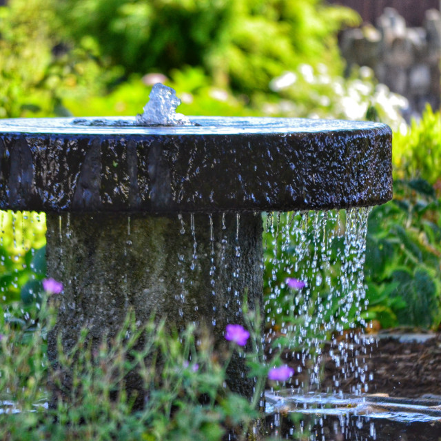 """""""Water feature"""" stock image"""