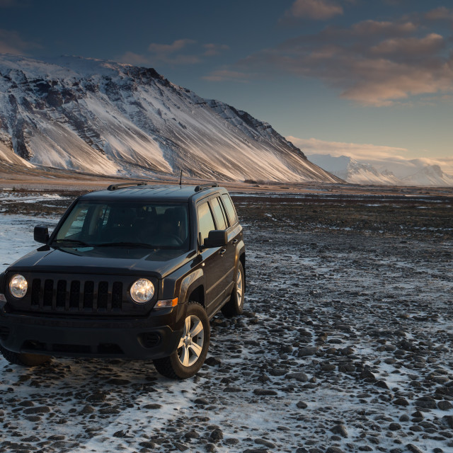 """Off road jeep adventure in Iceland"" stock image"