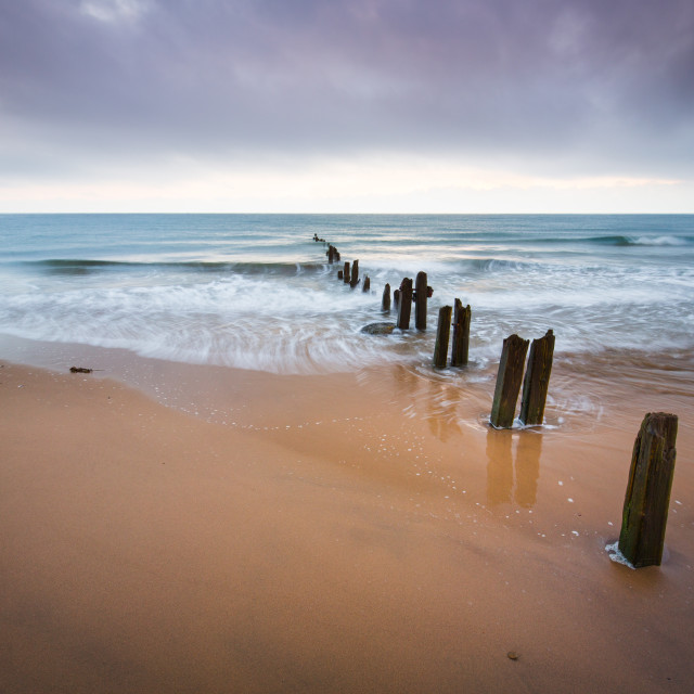 """Sandsend in Pastel Colours"" stock image"
