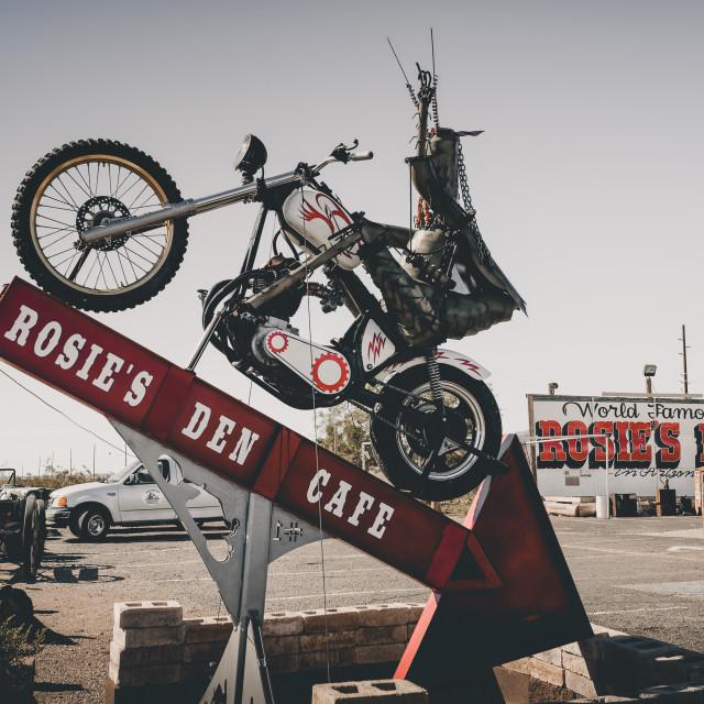 """Rosie's Den Cafe"" stock image"