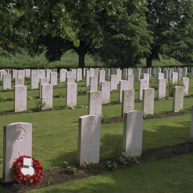 """""""WW1 Cemetery near Ypres Belgium."""" stock image"""