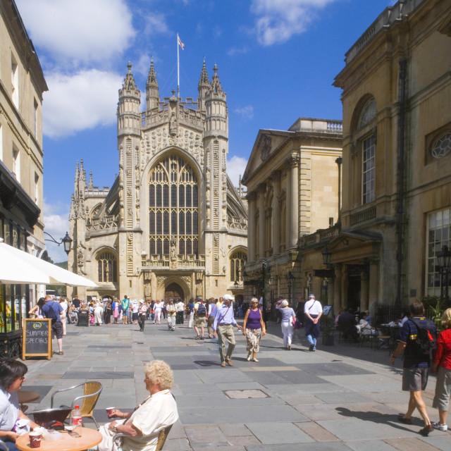 """Bath Abbey, Somerset England Uk"" stock image"