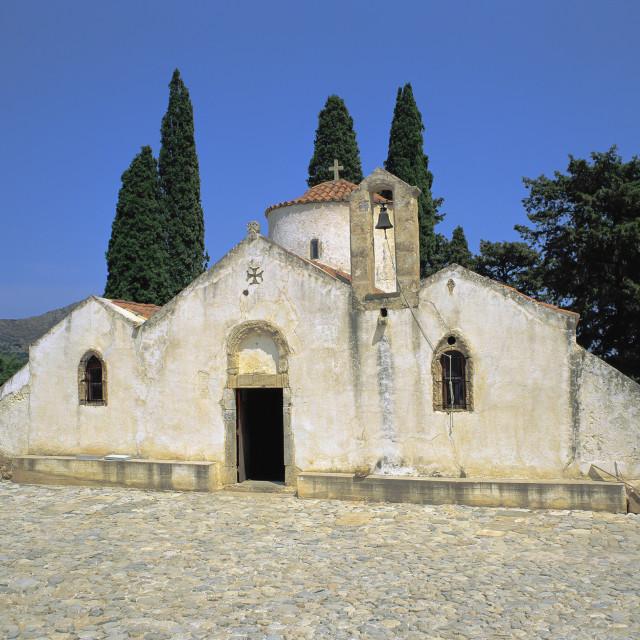 """CRETE, Church of Panagia Kera"" stock image"