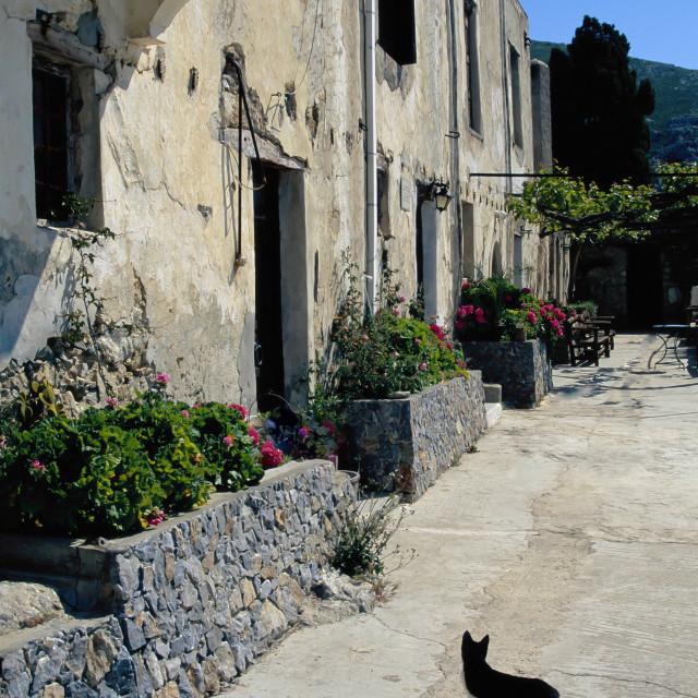 """CRETE, Traditional village"" stock image"