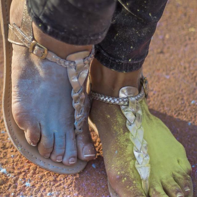"""Colourful Feet"" stock image"