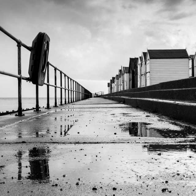 """After the Rain, Felixstowe"" stock image"