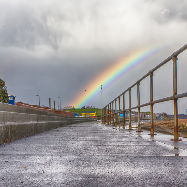 """The End of the Rainbow, Felixstowe"" stock image"