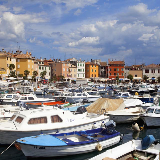 """croatia, istria - town of rovinj"" stock image"