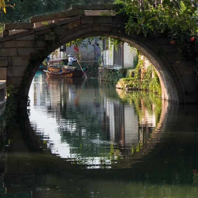 """""""Zhouzhuang Water Town"""" stock image"""
