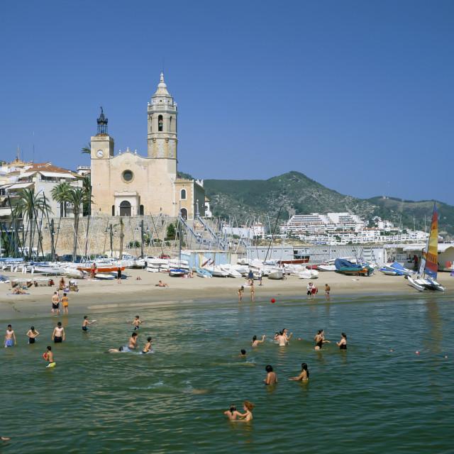 """SITGES.COSTA DORADA,SPAIN"" stock image"