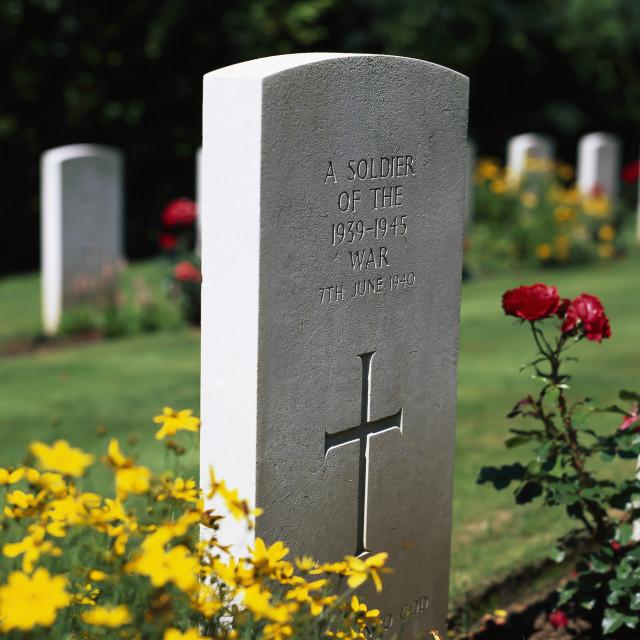 """""""FRANCE, UNKNOWN, WAR GRAVES,"""" stock image"""